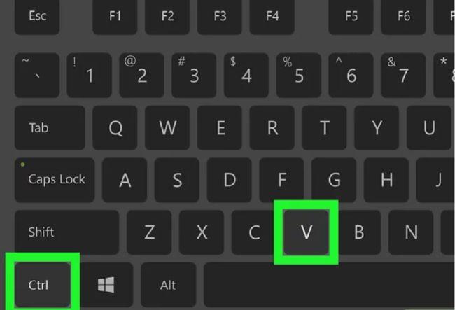 atajo de teclado para pegar