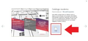 crear un folleto descargar plantilla en word