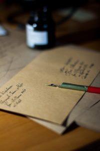 partes de una carta a mano