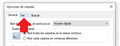 ver el formato de una extension en windows 10