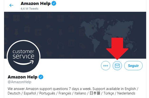 contactar al soporte de amazon por twitter