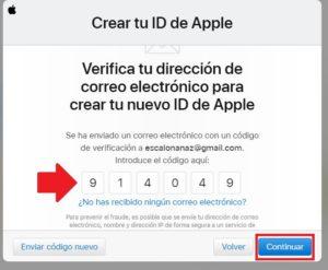 verificacion de correo para registrarse en icloud