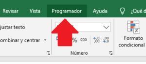 Nueva pestaña para programador en Excel