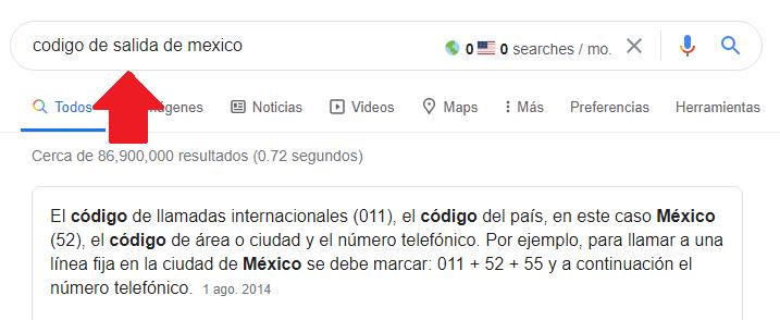 codigo internacional de llamadas a USA