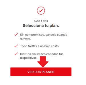 ver los planes disponibles en cuenta de netflix