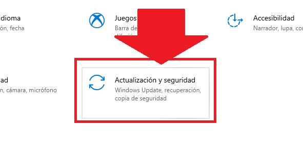 configurar opciones de actualizaciones y seguridad de windows 10