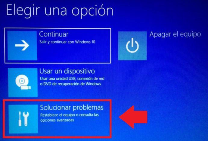 ingresar a la bios desde la pantalla azul de windows 10