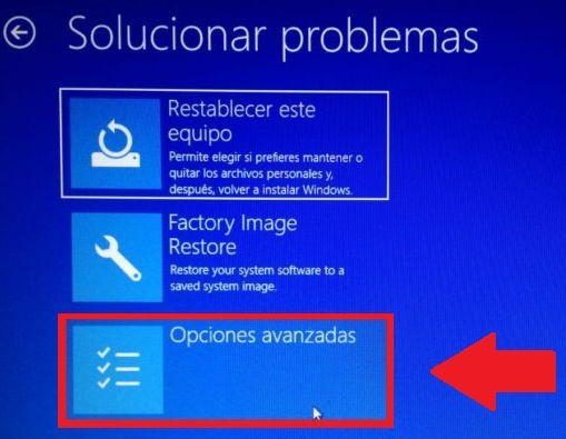 entrar a la bios desde pantalla azul solucionar problemas