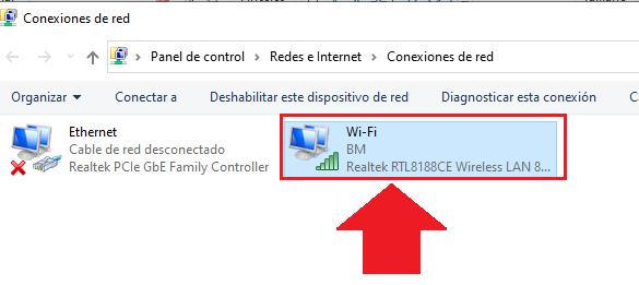 centro de conexiones de red en windows 10