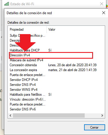 conocer ipv4 de tu pc desde windows 10