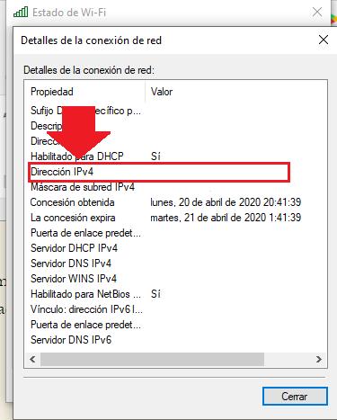 conocer ipv4 de tu pc desde windows 10