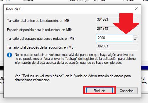 seleccionar distribucion de particion del disco duro en windows 10