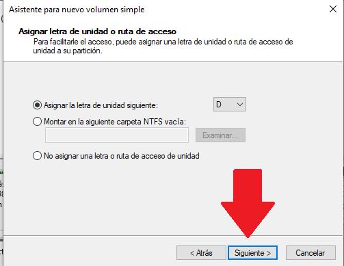 establecer ruta para unidad de disco duro y particion en windows 10