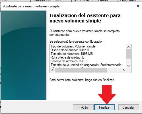 establecer una particion de disco duro desde windows 10