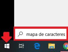 Botón de inicio en Windows 10