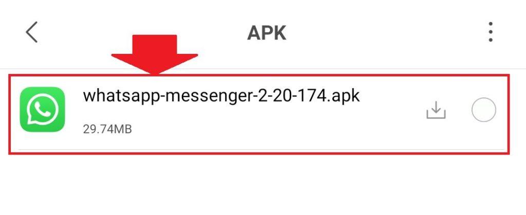 descargar e instalar la version de apk de whatsapp messenger