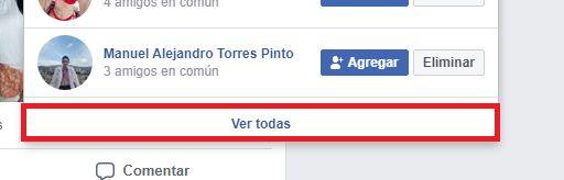 como ver solicitudes de amistad en facebook