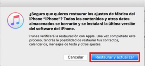 restaurar con itunes equipo iphone desactivado