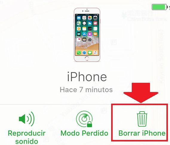 Borrar iPhone para restaurar equipo bloqueado por iCloud