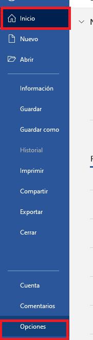 configuracion de opciones de autogardado de word