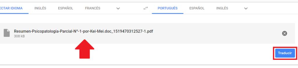 presionar boton para traducir