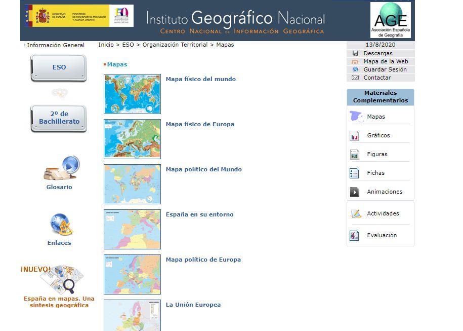 descargar mapa de europa y EU para estudiar