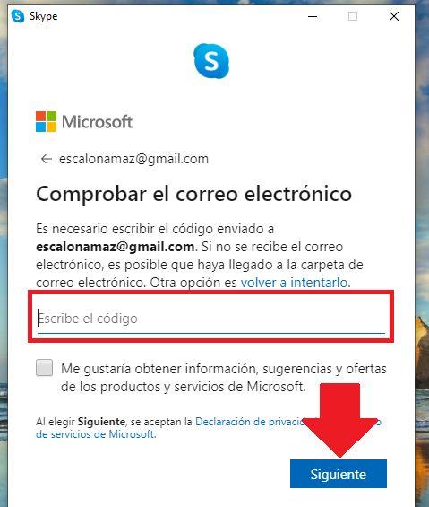 como verificar una cuenta de skype