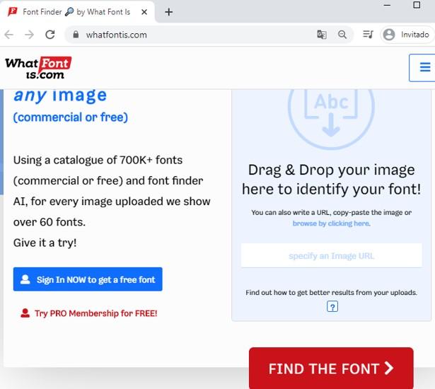 Herramienta para identificar una tipografía de una imagen: Whatfontis.com