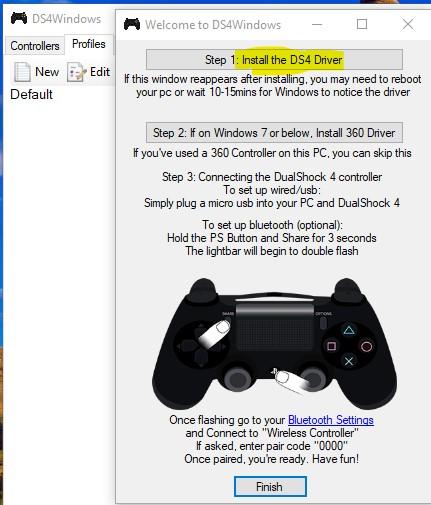 DS4 Windows e instalador de drivers del DS4.