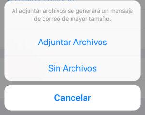 Ventana para seleccionar si quieres exportar todos los archivos de un chat o si solo quieres el texto.