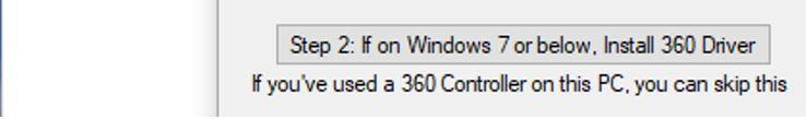 Botón para instalar el controlador necesario si usas Windows 7.