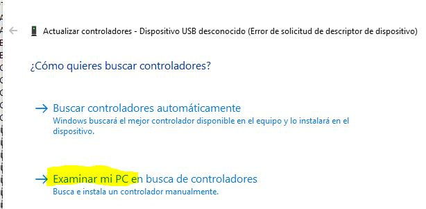 """Ventana con la opción """"examinar mi PC""""."""