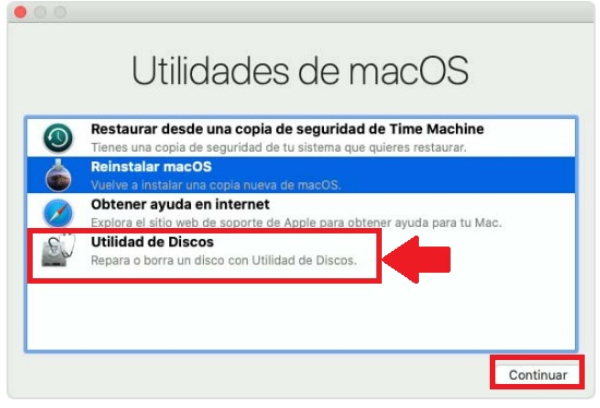 formatear unidad de disco de macbook pro air