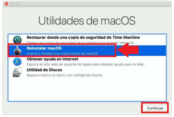 reinstalar macos para apple mac macbook air pro