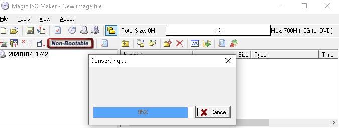covertir archivo bin + cue a imagen de disco iso