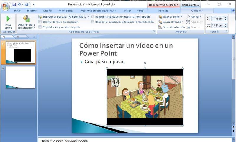 guia para insertar video en una presentacion de power point