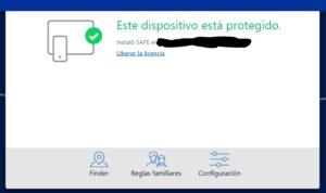"""Opción """"Finder"""" del sitio web de F-Secure."""