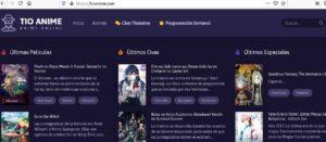 Página web de Tío Anime.