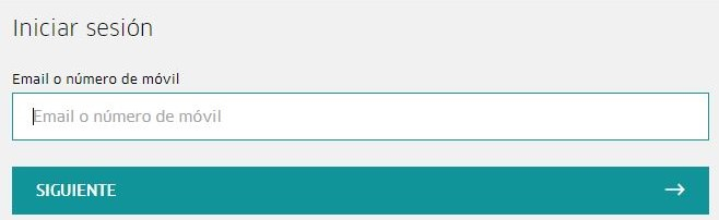 Casilla para insertar tu email del formulario de inicio de sesión de Uber.