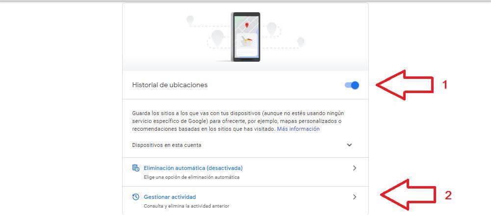 localizar celular apagado con el historial de ubicaciones de gmail