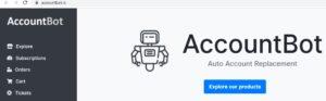Página principal de AccountBot.