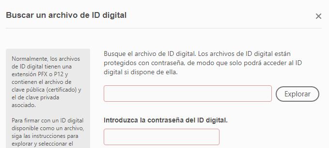 """Botón """"Explorar"""" de la ventana que te pide que busques tu certificado digital."""
