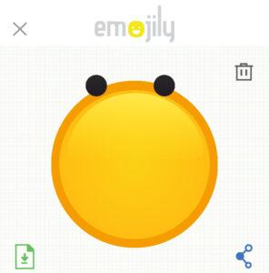 Se ha cambiado la posición de los ojos en el lienzo de tu emoji.