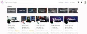 Página para elegir un perfil de Netflix o de otro servicio online, y el número de puestos libres por perfil.