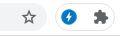 Icono del AMP Browser Extension cuando entramos a una página que use AMP.