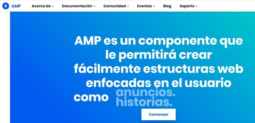 Sitio web oficial del formato AMP.