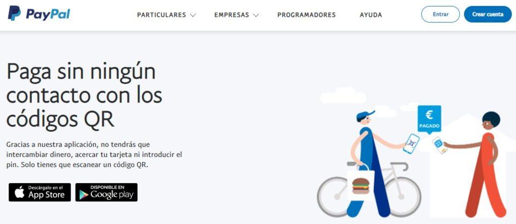Servicio de PayPal para realizar pagos a través de códigos QR.